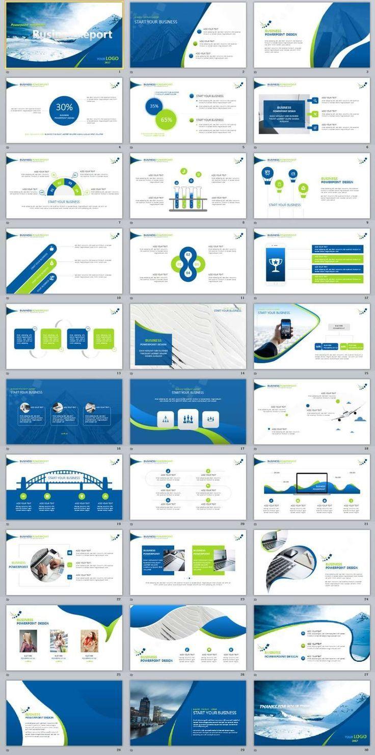 30+ Business Blue PowerPoint templates Présentation