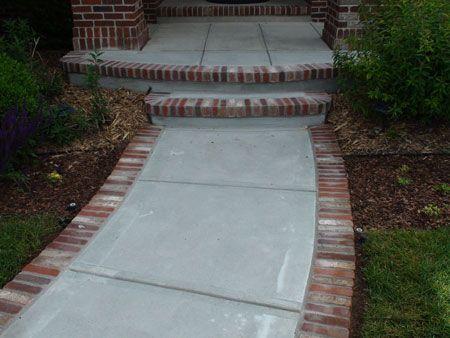 Concrete Denver Concrete Repair Denver Front Porch Steps Concrete Walkway Brick Edging