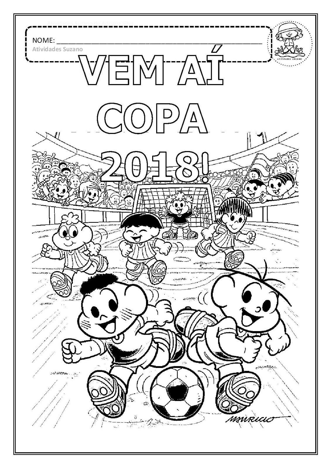 Desenhos Para Colorir Copa 2018 Em Pdf Atividades