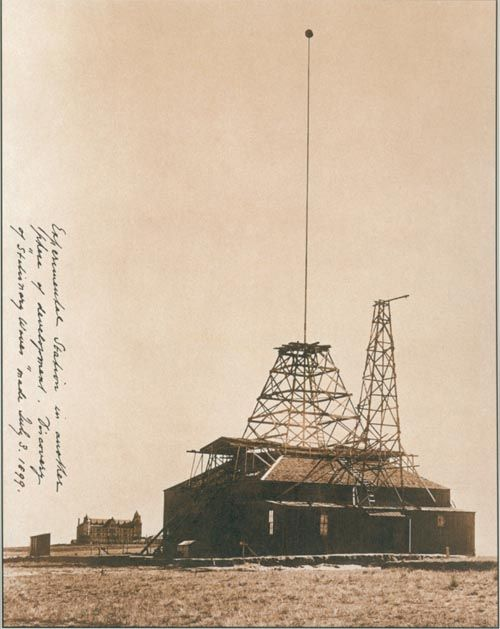 Experimental station at colorado springs where the first wireless experimental station at colorado springs where the first wireless transmission experiments were preformed 1899 sciox Choice Image