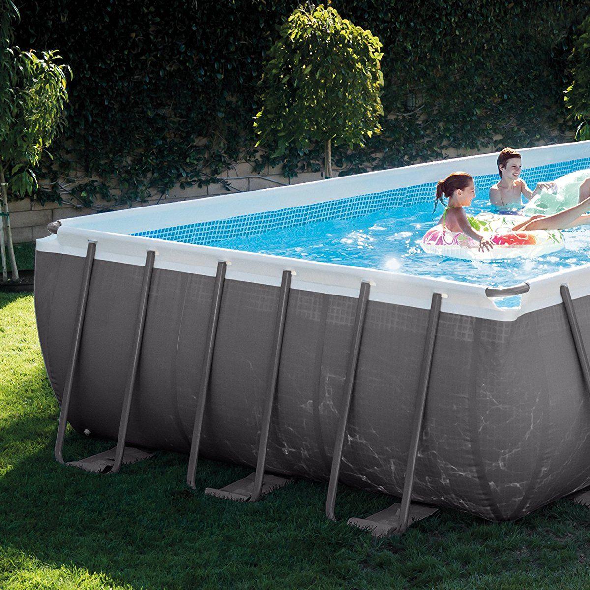Intex Rectangular Ultra Frame Pool Set 24 Feet By 12 Feet By 52 Inch Pool Rectangular Pool Intex