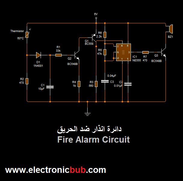 دائرة حساس ومستكشف الحريق بدرجة الحرارة Electronic Bubble Fire Alarm Alarm Fire