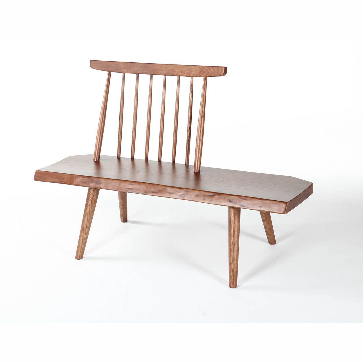 "Mid-Century Modern Reproduction Conoid Bench 50"" Walnut ..."