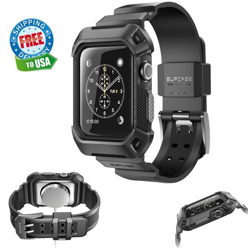 best authentic 0ae1a 0a094 Apple Watch Series 2 Rugged Protective Case With Strap Bands ...