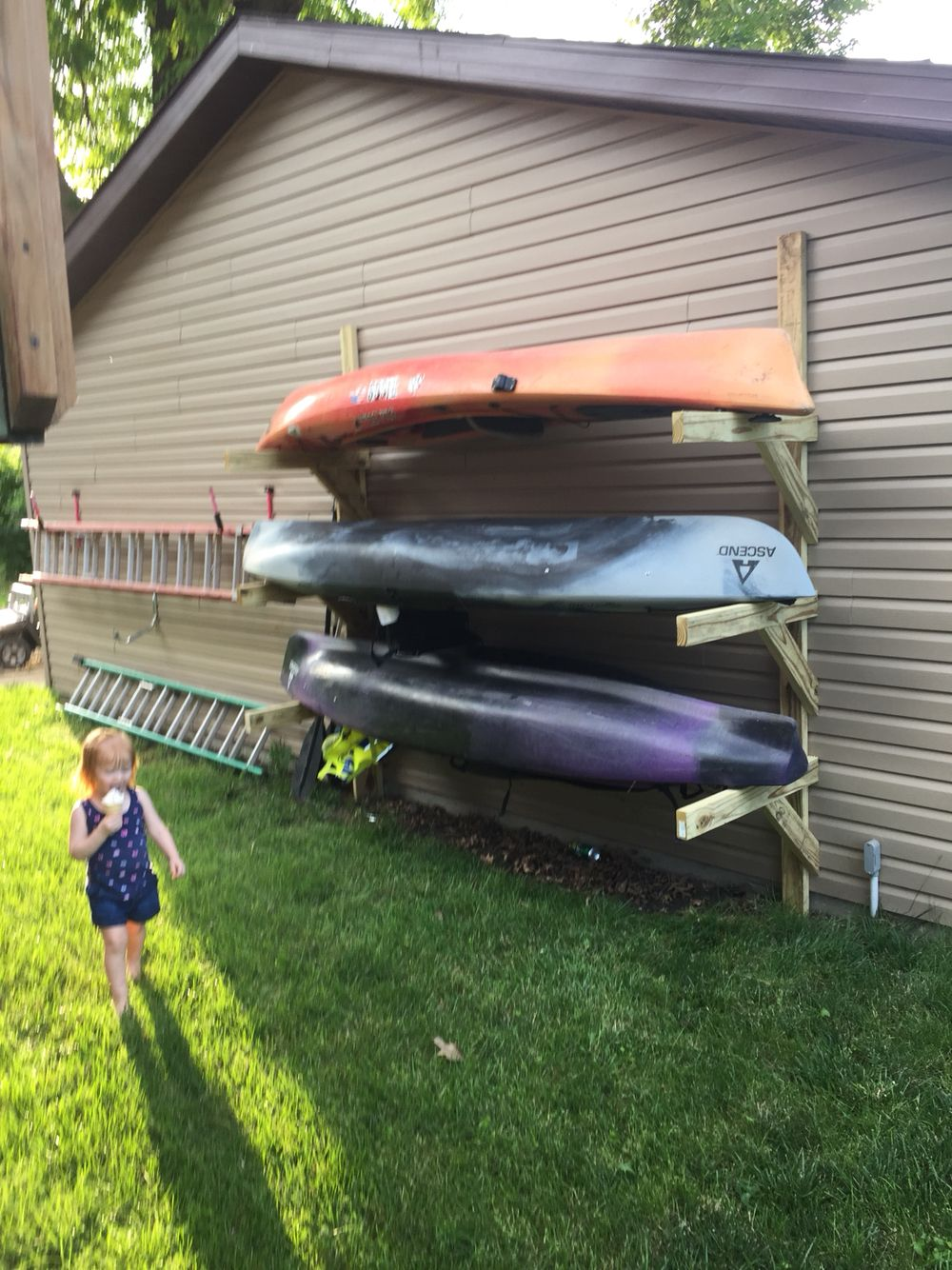 Kayak storage camping river pinterest kayak storage for Boat storage garage