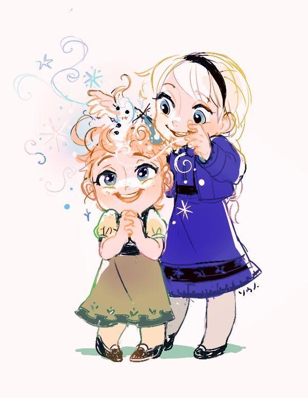 Анна и Эльза замороженные Алины