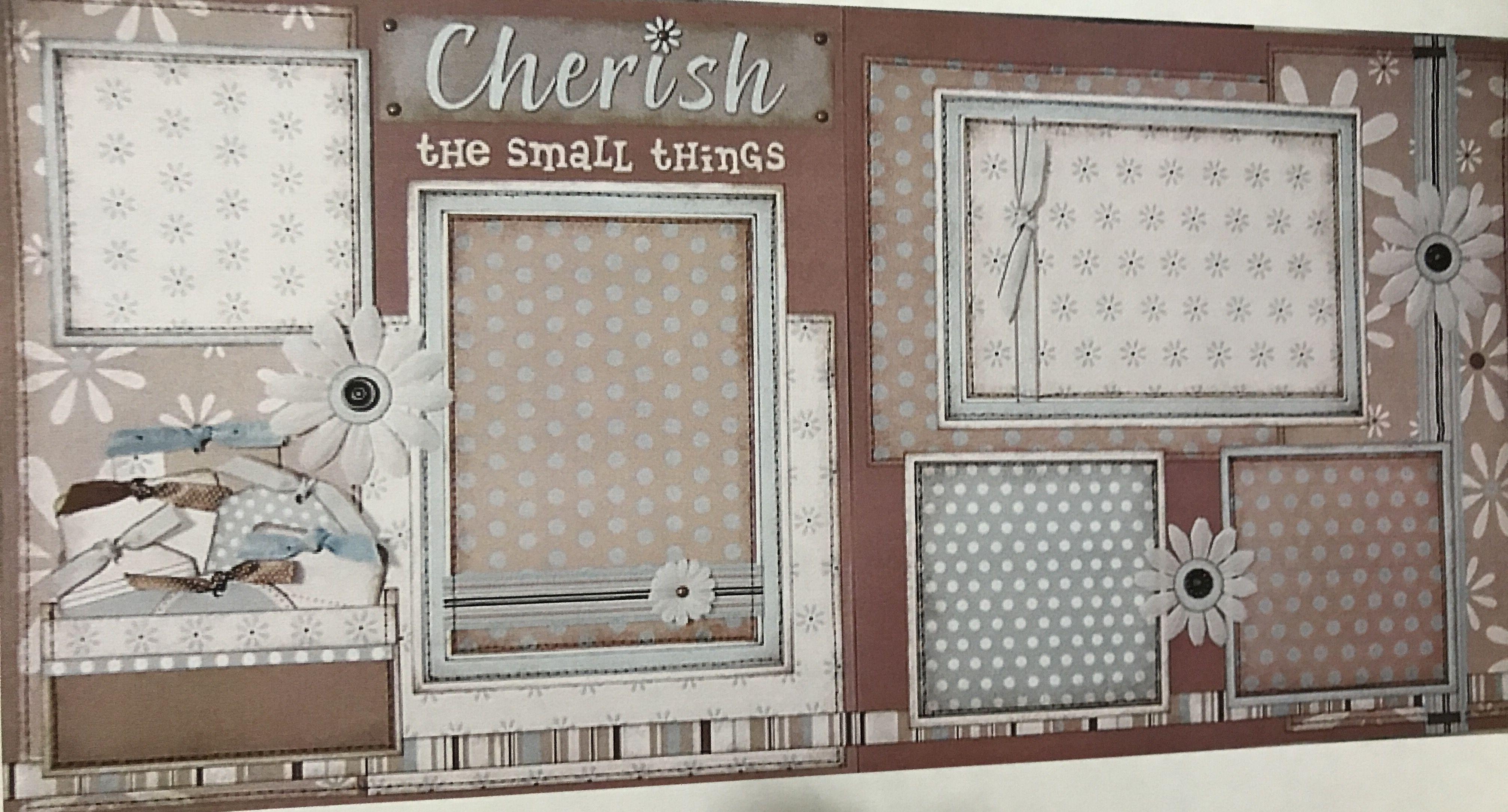 cherish the small things sei blue flower paper grannys kitchen - Grannys Kitchen