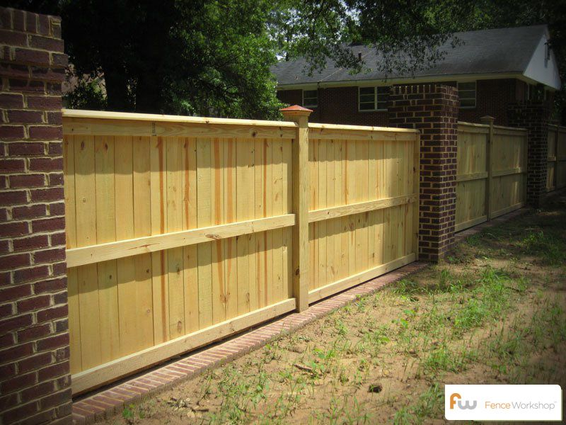 wood privacy fences styles designs pictures