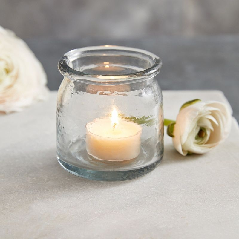 2fb1dd651c Textured Glass Tealight Holder | Candle Holders | The White Company ...