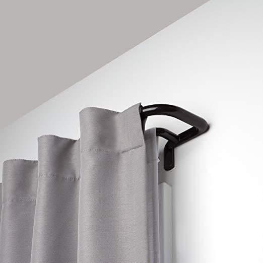 Amazon Com Umbra Twilight Double Curtain Rod Set Wrap Around