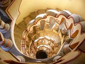 Escalier du Château Borys à Szekesfehervar, Hongrie
