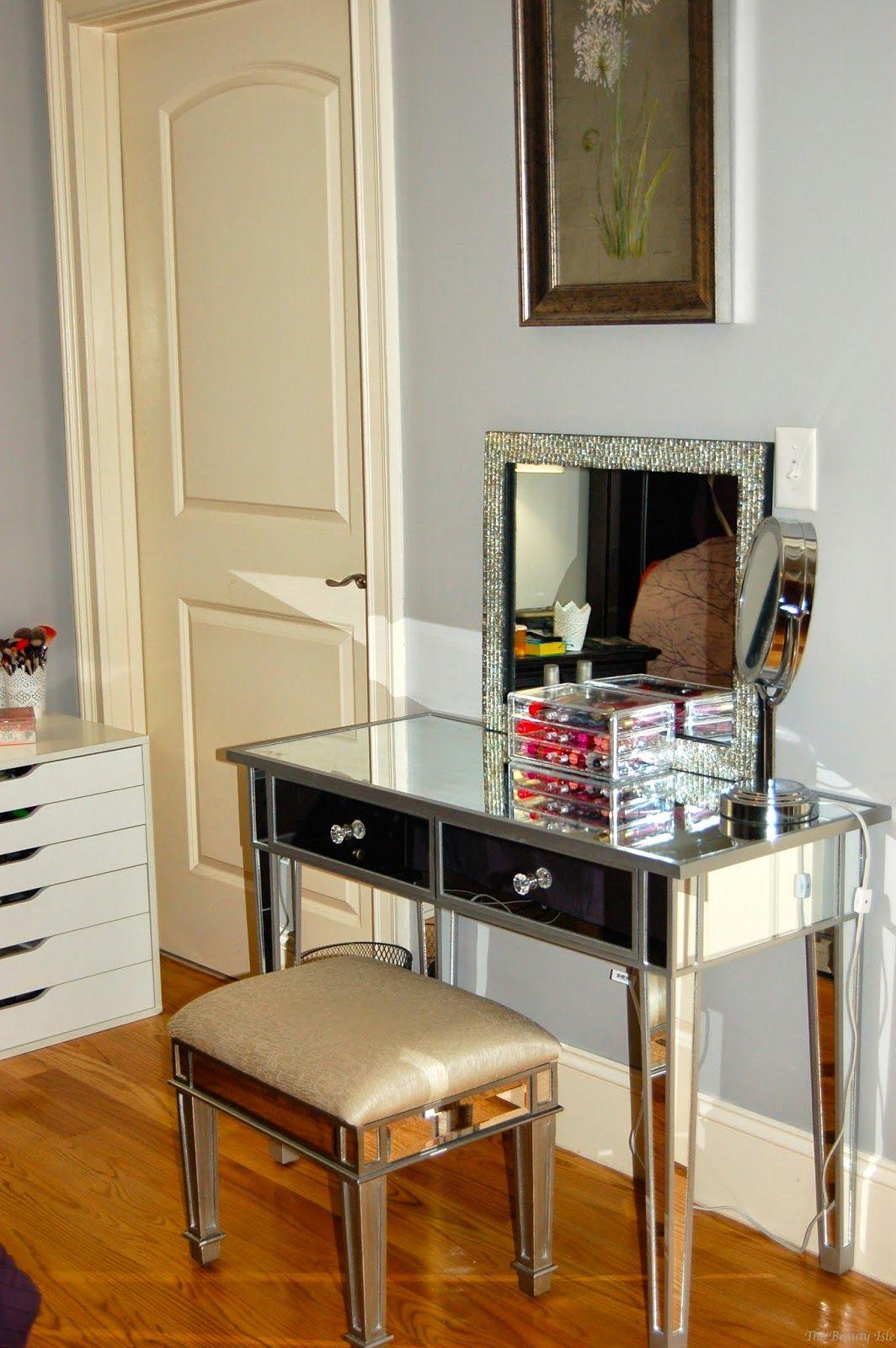 Mirrored hayworth vanity room ideas pinterest vanities mirror