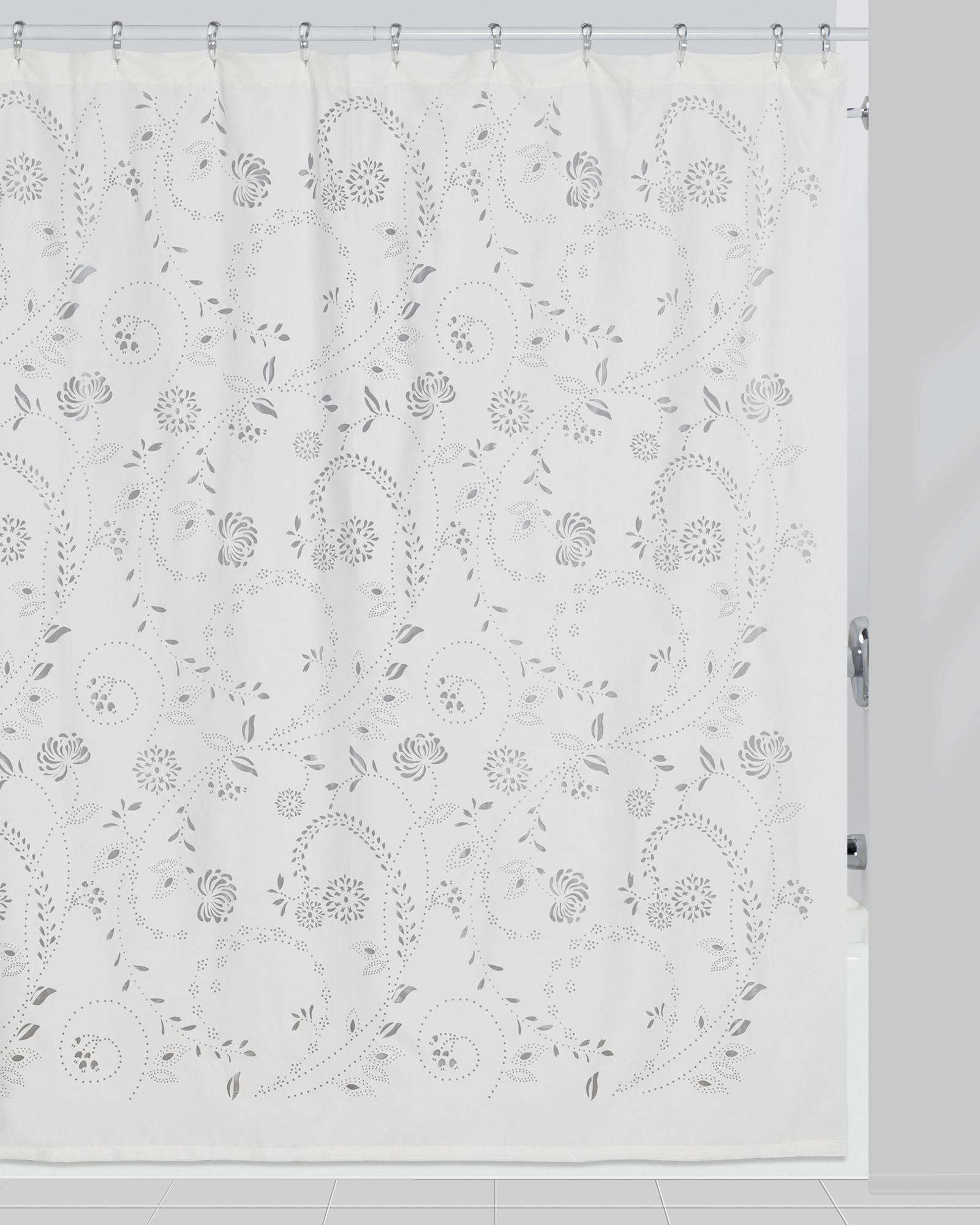 Creative Bath Eyelet Shower Curtain Fabric Shower Curtains