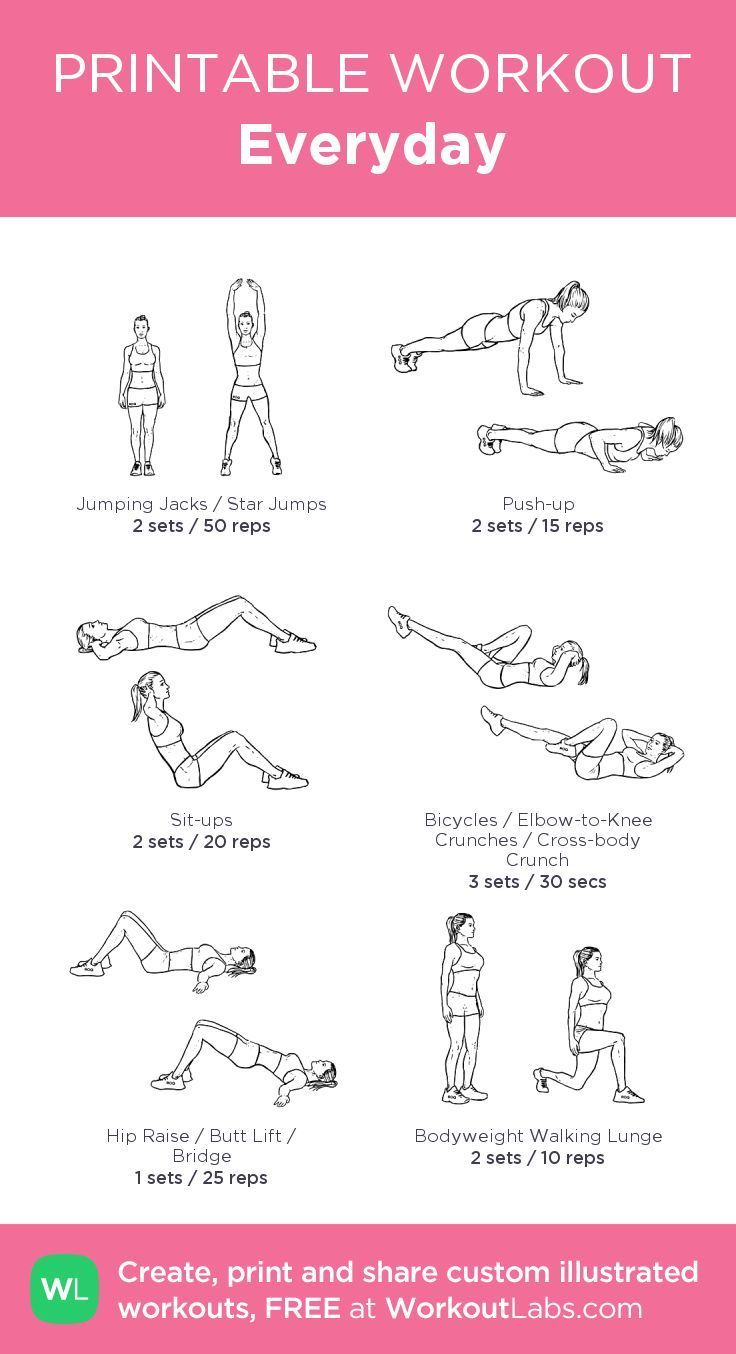 Do it every day! Don't forget to add some squats;) ... -  Do it every day! Don't forget to add some