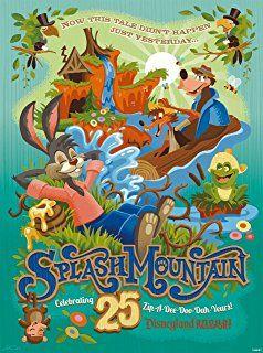 B2G1F Collector/'s Poster Print Vintage Disney 1989 Splash Mountain