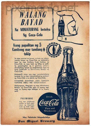 50's Coca-Cola Tagalog ad #Philippines #Coke | Adverts Old & New