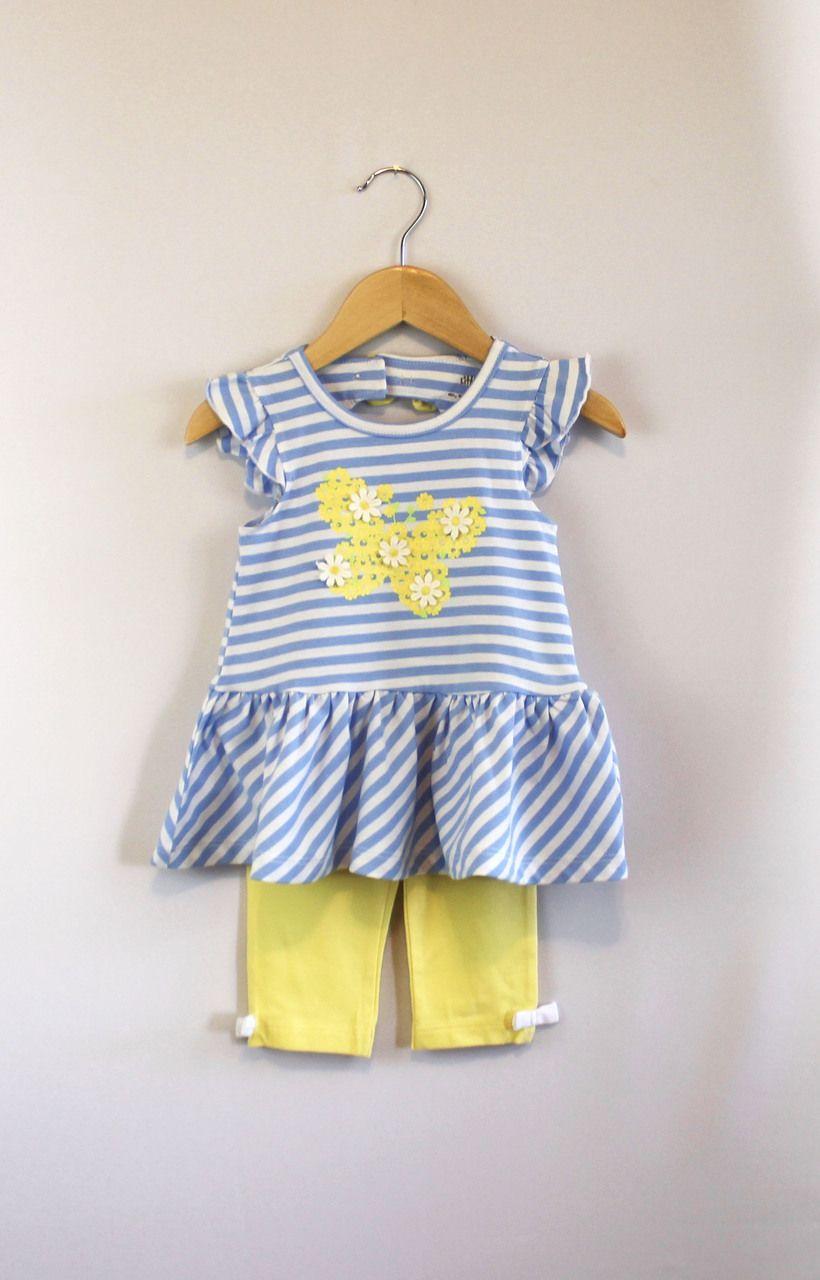 27bb9efcd714 Butterfly Tunic Capri Set by Little Me - Kids Cloth Box