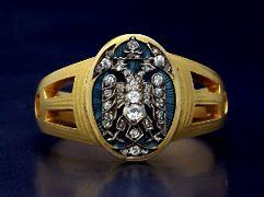 antique faberge rings for sale gold diamond and enamel russian eagle ring by carl