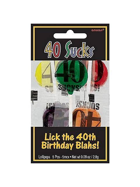 40 Sucks Lollipops (5 PACK)