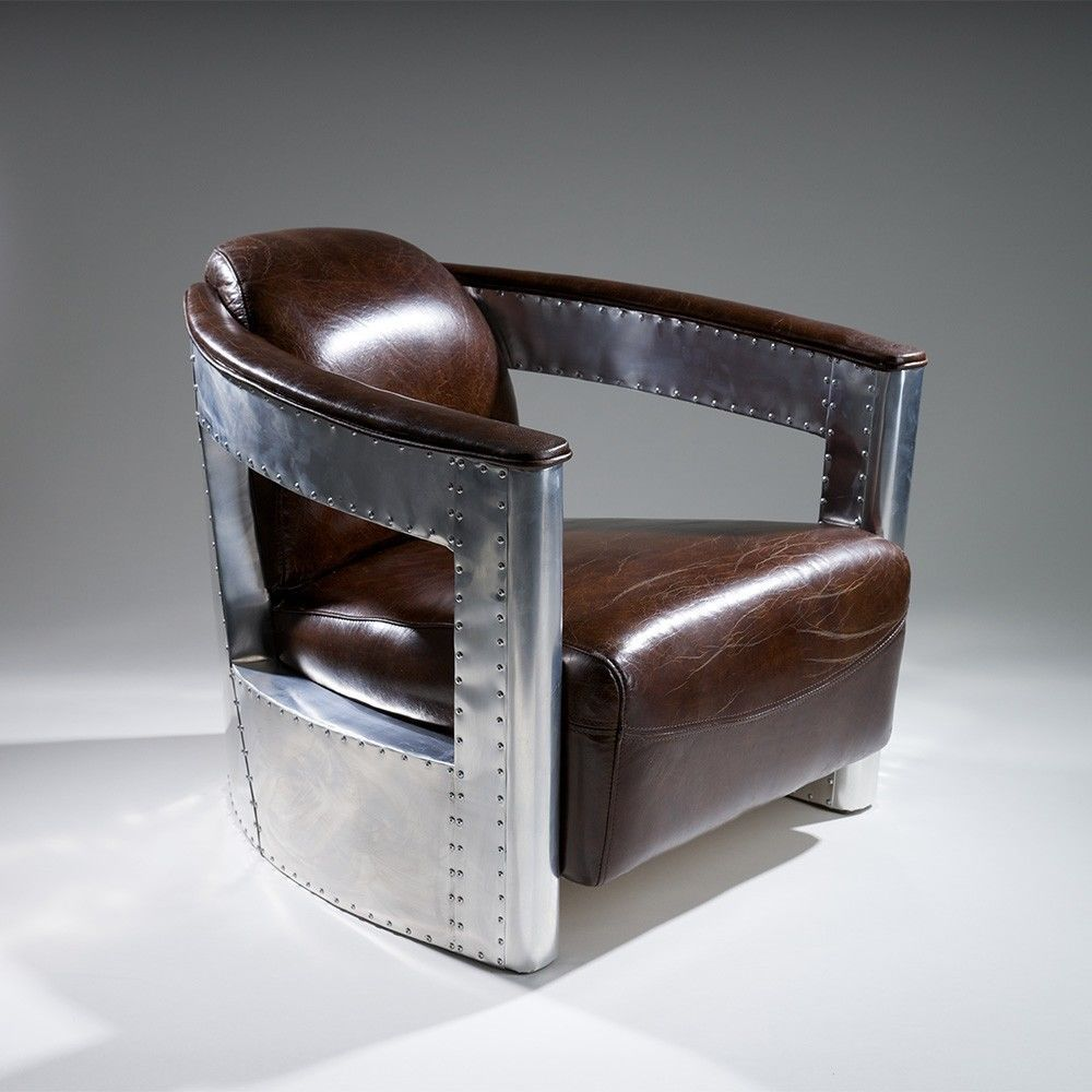 Best Coupe38 Modern Design Top Grain Leather Club Chair In 640 x 480