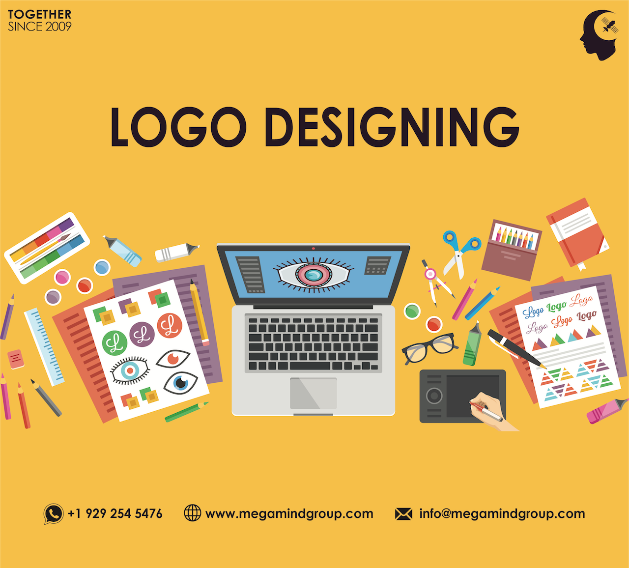 Logo is the face of brand. Create brand awareness among