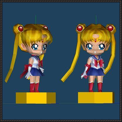 Chibi Sailor Moon Ver 3 Free Papercraft Download Com Imagens