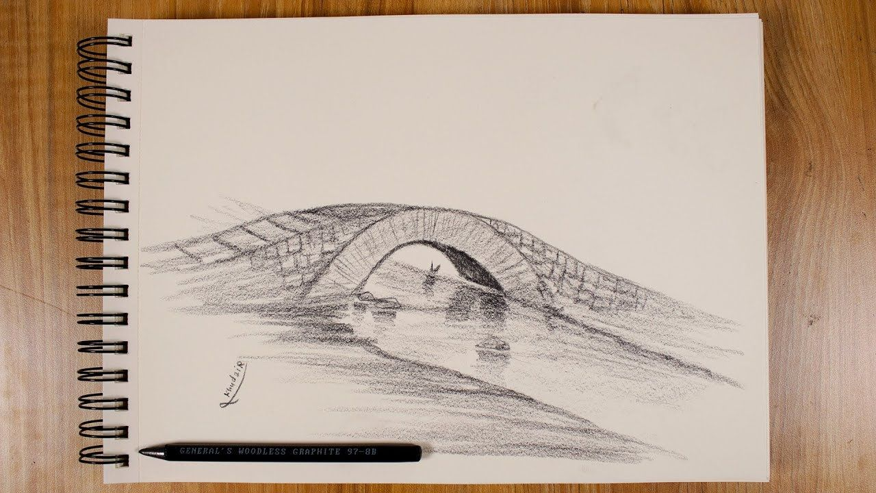 Learn How To Draw A Small Bridge Shot From Fantasy Learn To Draw Drawings Small Bridge