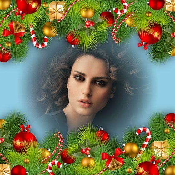 Montajes de fotos con adornos navide os para crear t for Adornos navidad online