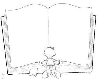 Dibujo para colorear de un libro cole pinterest dibujo - Como hacer un libro antiguo ...