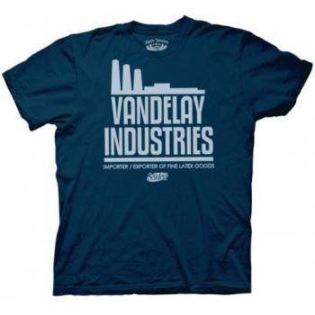 Seinfeld Vandelay Industries Mens T-Shirt (Navy, Medium)