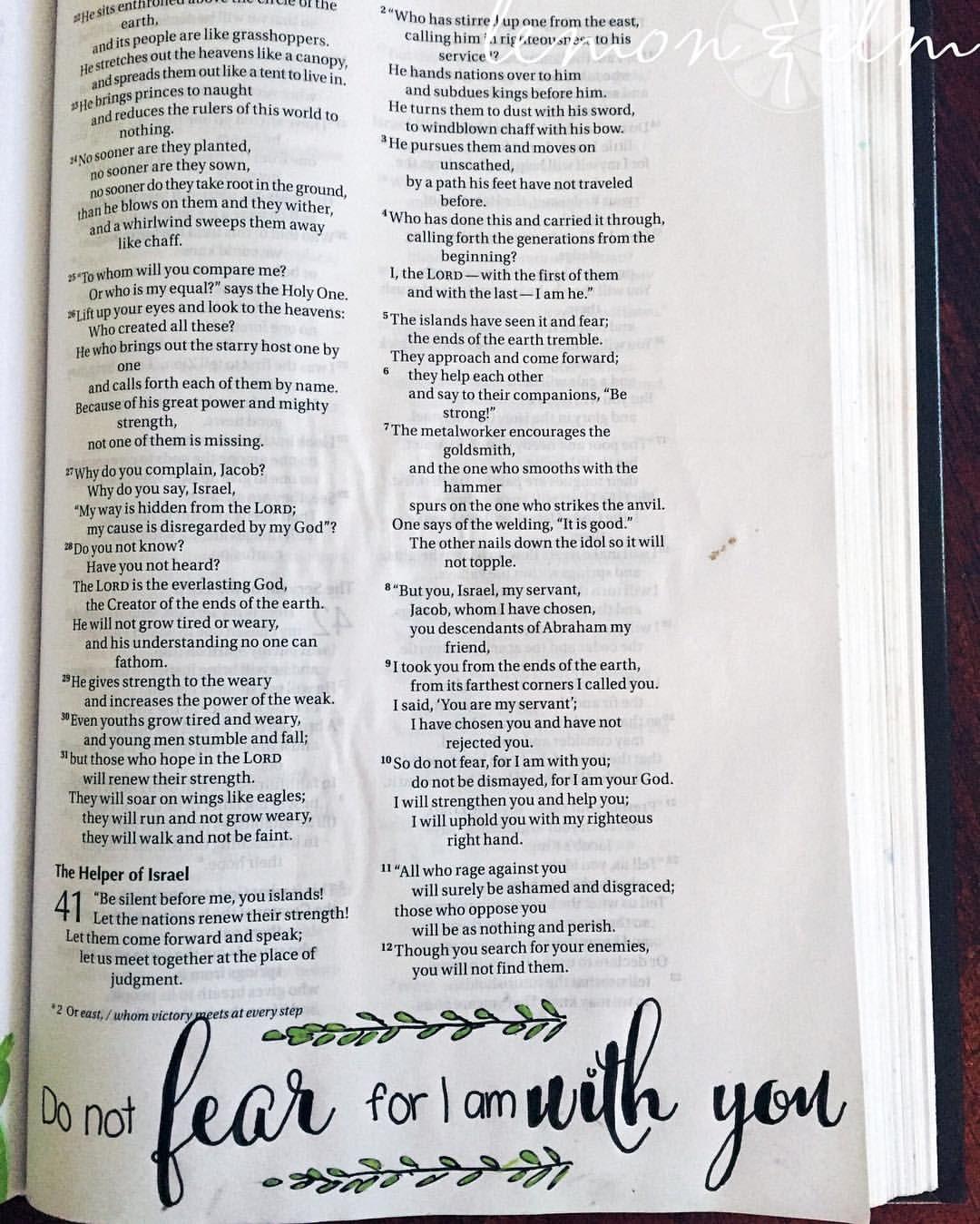 My life verse! Isa 41:10! #BibleArtJournaling #BibleArt ...