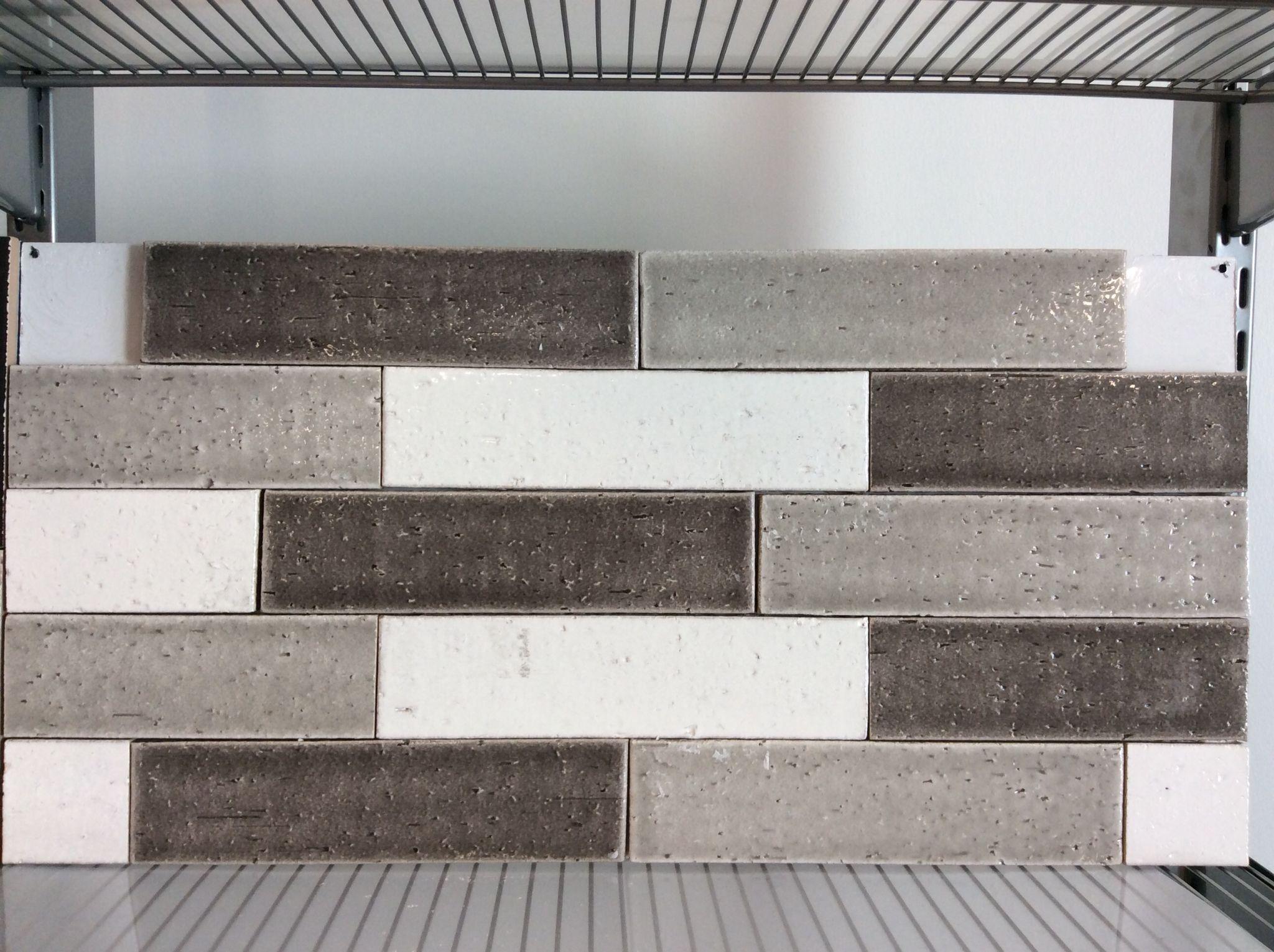 Cambride glazed brick by Bellavita Tile. Mixed White, Smoke ...