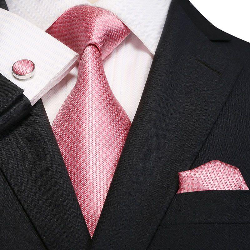 3PC Silk Necktie Set Color: Pink 59\