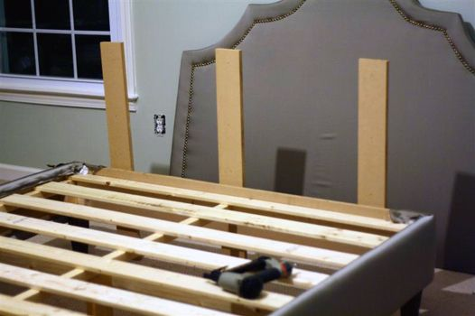 Add A Headboard To A Diy Upholstered Platform Bed We Want Need To