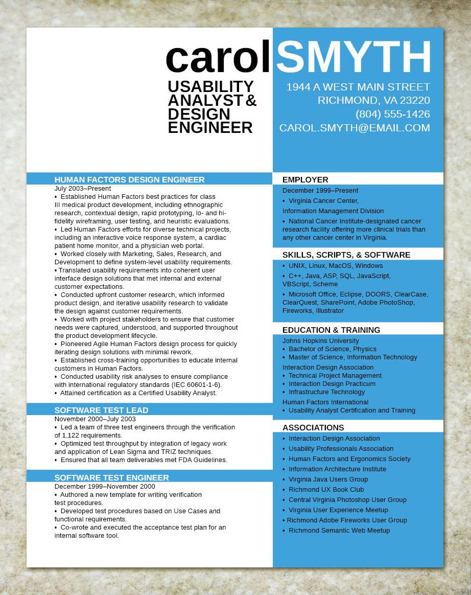 resume | CV | Pinterest | Currículum, Curriculums y Curriculums ...