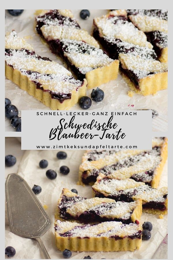 Swedish Blueberry Tart to Midsommar  - Backen, Torten, Kuchen, Gebäck -
