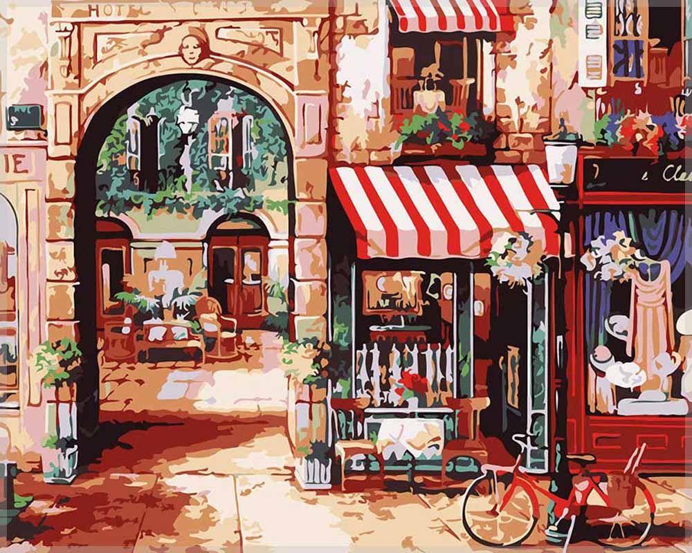Картина по номерам «Парижская улочка» | Краска, Картины и ...