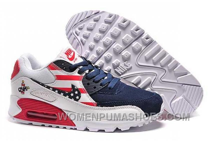 buy cheap nike air max 90 flag usa hombres zapatillas