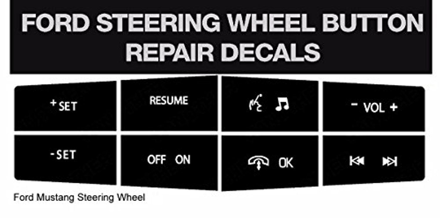 Ford Mustang Steering Wheel Button Repair Kit - Easily Fix Your Ugly Faded Steering Controls For Your Ford Mustang - Top Accessories -- Awesome products selected by Anna Churchill