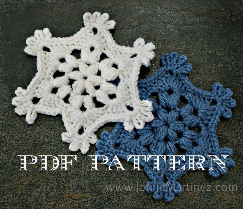 Easy Crochet Puff Stitch Snowflake Pattern PDF Crochet ...