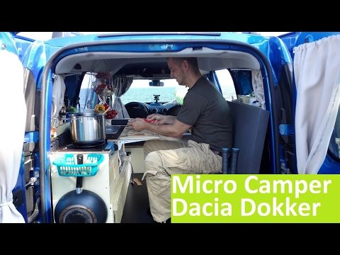 home made dacia dokker micro camping car van diy. Black Bedroom Furniture Sets. Home Design Ideas