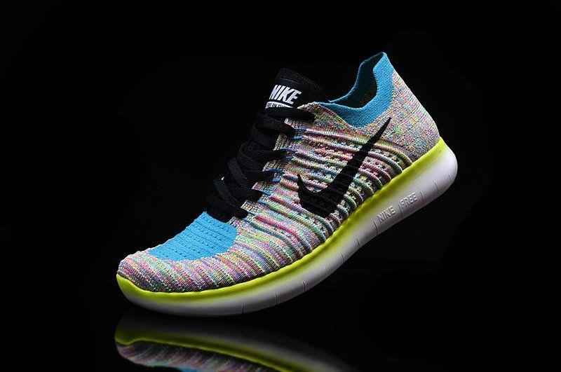 b368843304dc4e Nike Free RN Flyknit Boys Shoe Multi Color Hyper Jade Turquoise ...