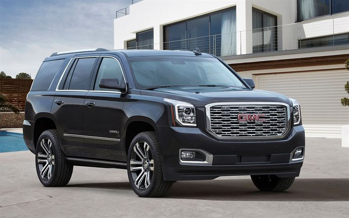 Download Wallpapers Gmc Yukon Denali 2018 Cars Suvs Luxury Cars
