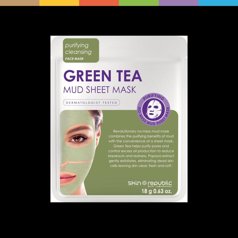 Photo of Green Tea Mud (Sheet-Mask) Green Tea greentea mask