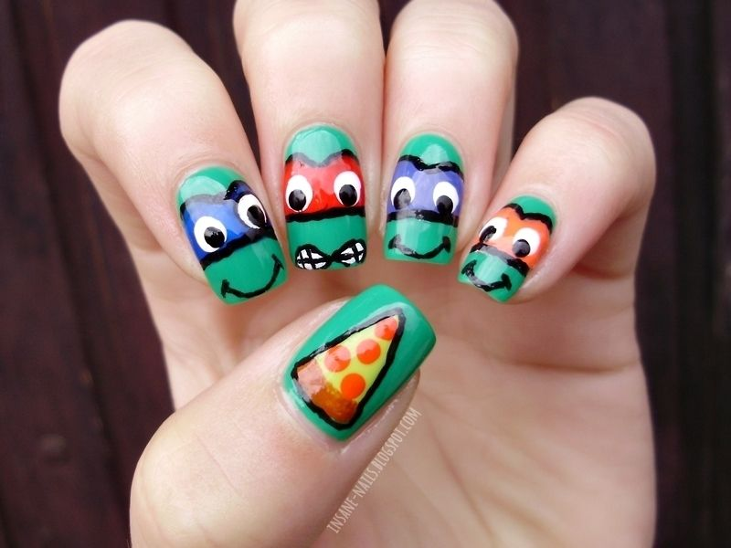 Ninja turtles nails nail art by Sanela | Nails - art and designs ...