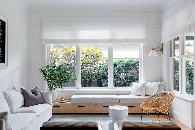 Fensterbank Zum Sitzen  Modern Fenstersitz Wohnzimmer Modern Gemütlich