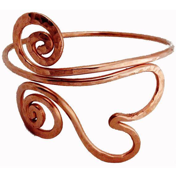 Upper Arm Cuff Hand Made OMAZI Copper Arm Band