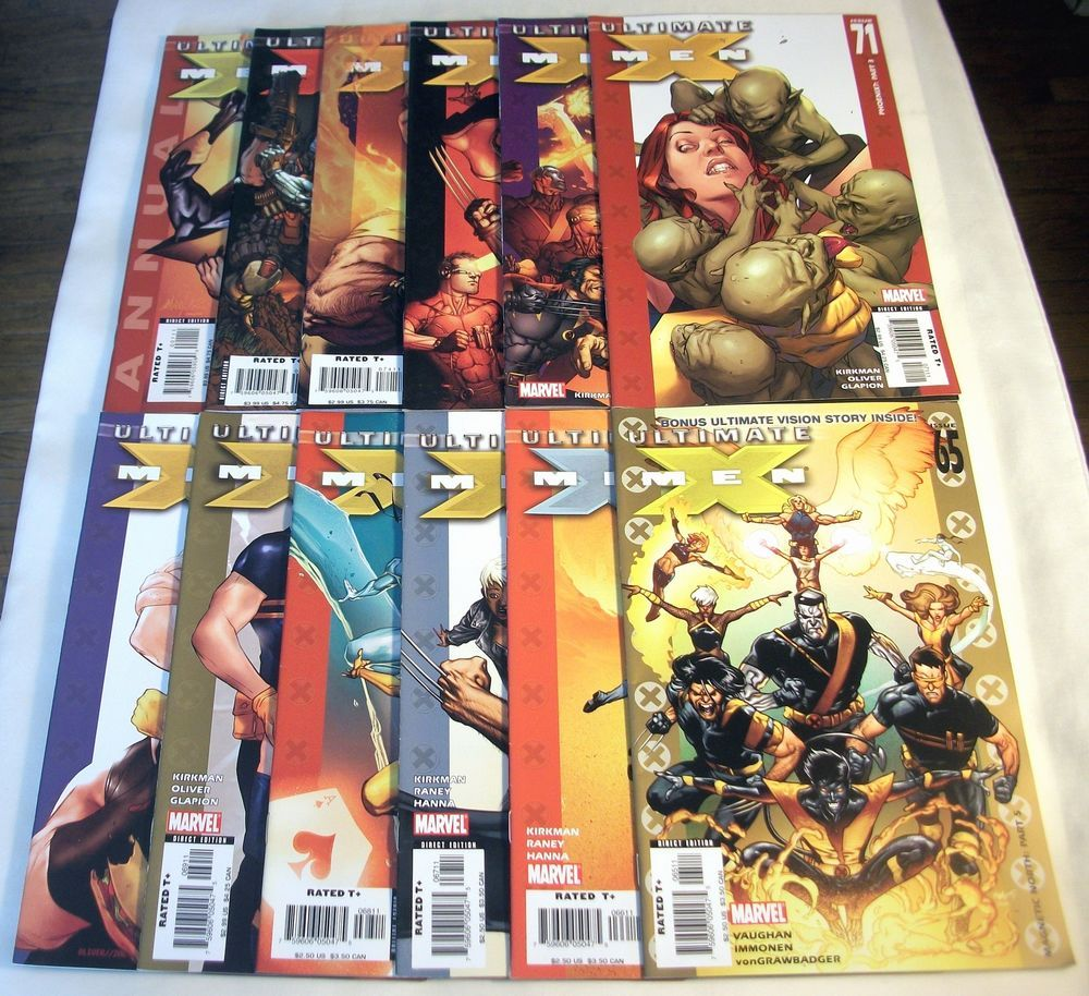 Ultimate X Men 65 75 Annual 2 Robert Kirkman Ultimate Vision Lot Of 12 With Images X Men Marvel