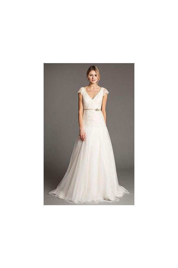 Vestidos de novia 2015 sencillos de encaje con mangas. Combinación ...