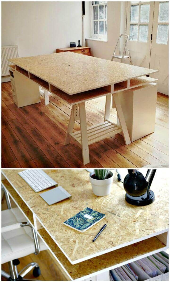 Photo of Double Layer Particle Board Desk